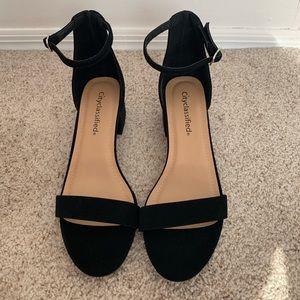 Black Suede Heel sandals